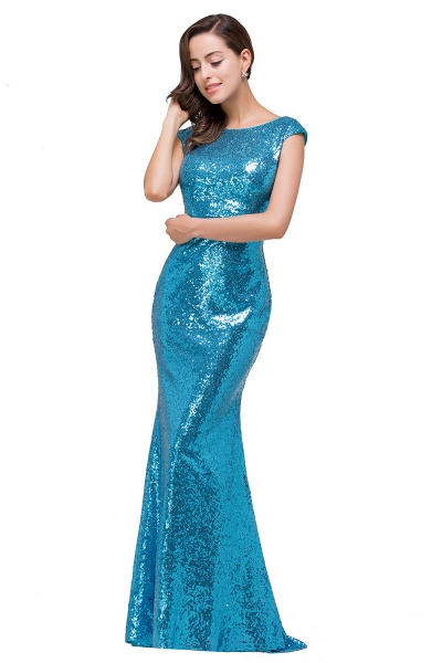 EVELYNN | Mermaid Floor-Length Sleeveless Scoop Sequins Prom Dresses_4