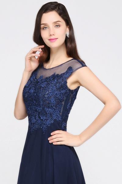Modest Jewel Chiffon A-line Evening Dress_8
