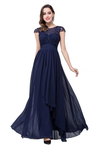 ELLEN   A-line Short Sleeves Chiffon Bridesmaid Dresses with Ribbon Bow_16