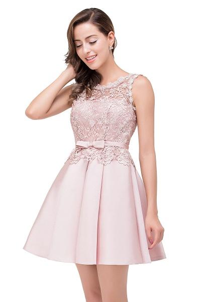A-line Lace Knee-length Satin Homecoming Dress_11