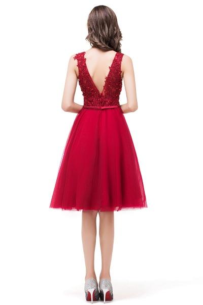 EVIE   A-Line Deep-V Neck Sleeveless Short Prom Dresses with Appliques_3
