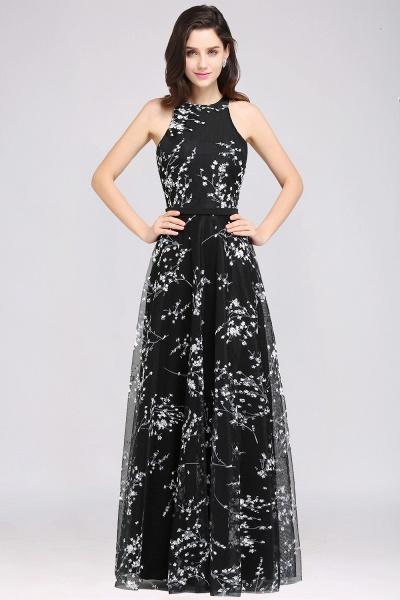 Eye-catching Jewel Stretch Satin A-line Evening Dress_3