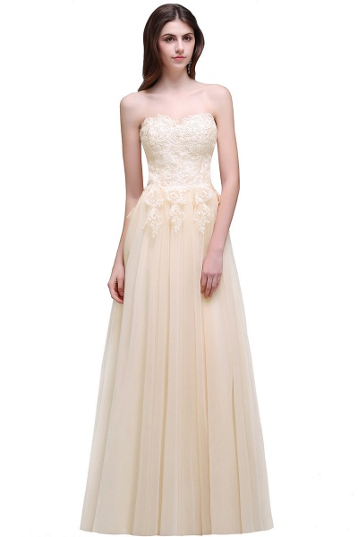 Sweetheart A-line Floor Length Bridesmaid Dress_1