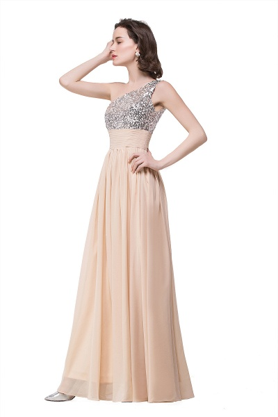 A-line Sequined Floor-length Chiffon Evening Dress_6