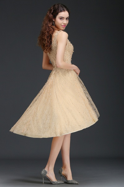 Attractive Straps Satin A-line Homecoming Dress_6