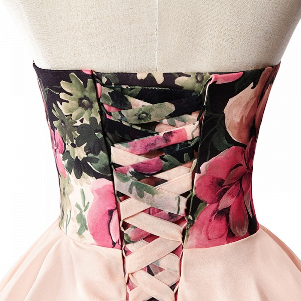 ELENA | A-line Sweetheart Sleeveless Print Ruffles Short Chiffon Prom Dresses_6
