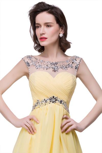 Precious Strapless Chiffon A-line Evening Dress_3