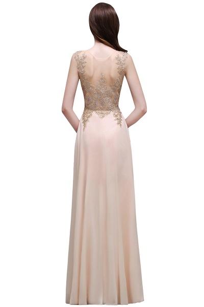 ALAYNA | Sheath Jewel Long Chiffon Evening Dresses With Applique_5
