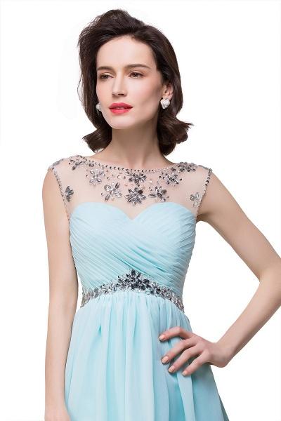 Precious Strapless Chiffon A-line Evening Dress_5