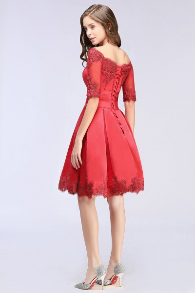 Chic Off-the-shoulder A-line Homecoming Dress_7