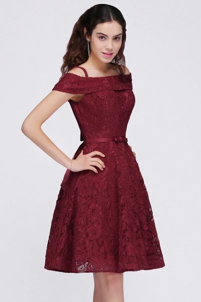 BRISTOL | A-Line Spaghetti Straps Short Lace Burgundy Homecoming Dresses_5