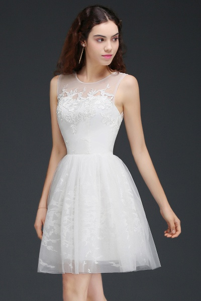 Affordable Jewel Tulle A-line Homecoming Dress_4
