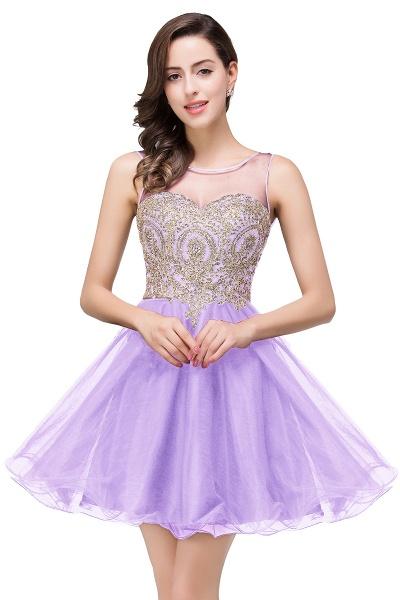 A-line Crew Short Sleeveless Appliques Prom Dress_3