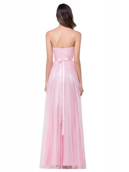 ELLIS | A-line Sweetheart Floor-length Pink Tulle Ruffles Bridesmaid Dresses_4