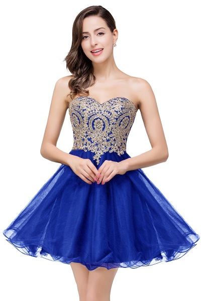 Gabriela | A Line Lace Appliques Sweetheart Short Prom Dresses_3