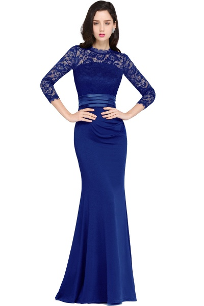 ARIANNA | Sheath High Neck Black Elegant Evening Dresses with Lace_3