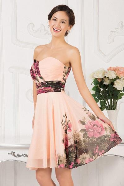 ELENA | A-line Sweetheart Sleeveless Print Ruffles Short Chiffon Prom Dresses_10
