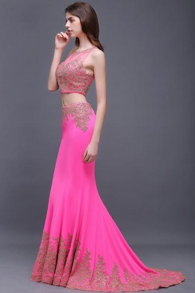 Fascinating Jewel Stretch Satin Column Prom Dress_6