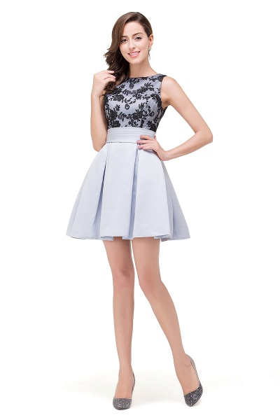FELICITY | A-Line Crew Sleeveless Short Appliques Prom Dresses_1