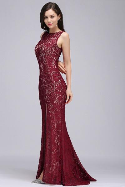 Modest Jewel Lace Mermaid Evening Dress_6