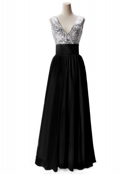 Fascinating V-neck Chiffon A-line Evening Dress_4