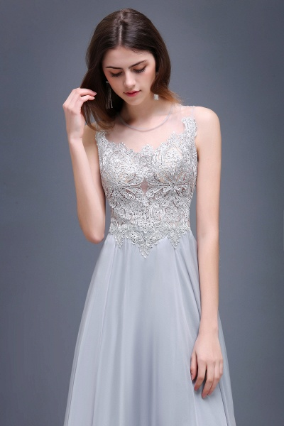 Scoop Chiffon A-line Floor Length Bridesmaid Dress_5
