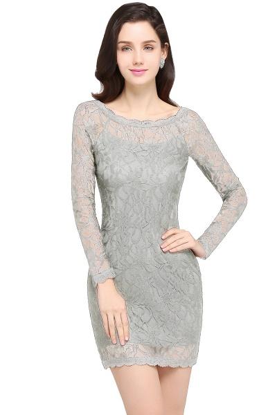 Amazing Jewel Lace Mermaid Bridesmaid Dress_8
