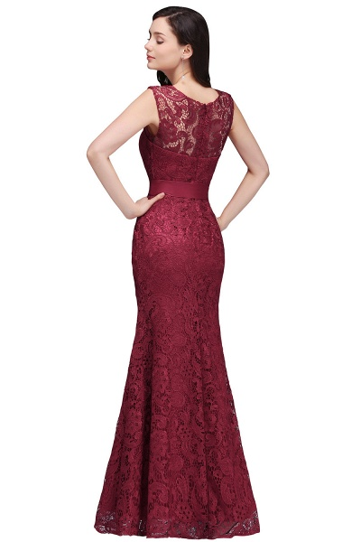 EDEN | Mermaid Sleeveless Floor-length Lace Prom Dresses with Ribbon Sash_3
