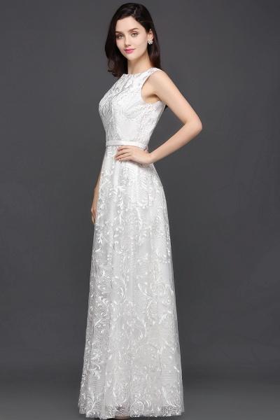 Beautiful Jewel Lace A-line Evening Dress_6
