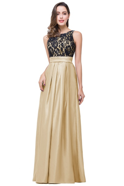 ELLIE | A-line Floor-length Crew Chiffon Lace Bridesmaid Dresses_1