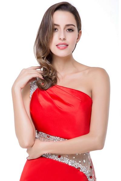 ELLE | Mermaid One-shoulder Short Prom Dresses with Crystal Beadings_13