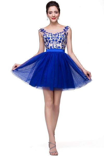 ELIZA | A-line Sleeveless Bateau Short Tulle Appliques Prom Dresses_7