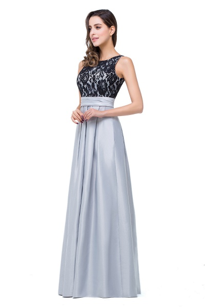 ELLIE | A-line Floor-length Crew Chiffon Lace Bridesmaid Dresses_4