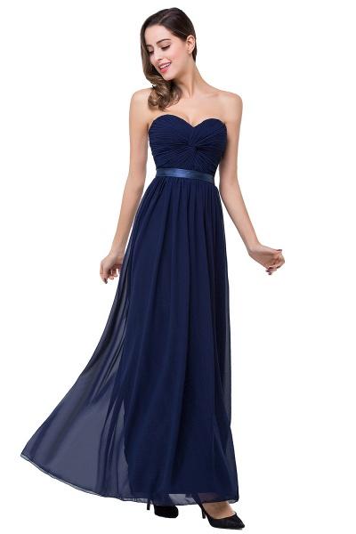 ADELINA | A-line Strapless Chiffon Bridesmaid Dress with Draped_3