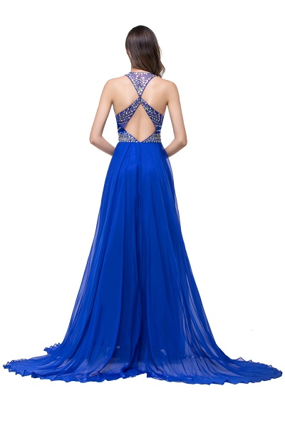 Eye-catching Jewel Tulle A-line Evening Dress_5