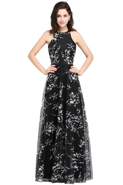 Eye-catching Jewel Stretch Satin A-line Evening Dress_7