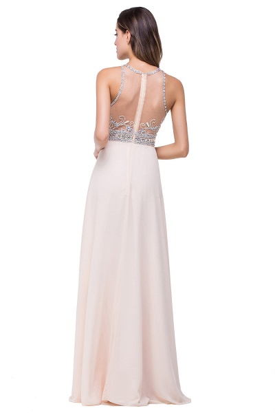 Eye-catching Jewel Chiffon A-line Evening Dress_3