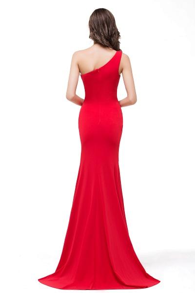 EMMALYN | Mermaid One-Shoulder Floor Length Red Prom Dresses_3