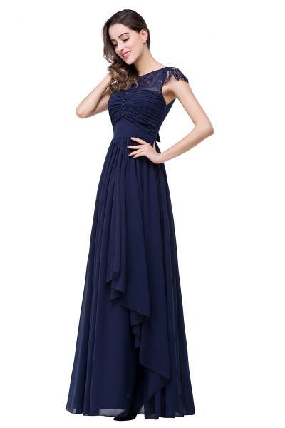 ELLEN   A-line Short Sleeves Chiffon Bridesmaid Dresses with Ribbon Bow_10