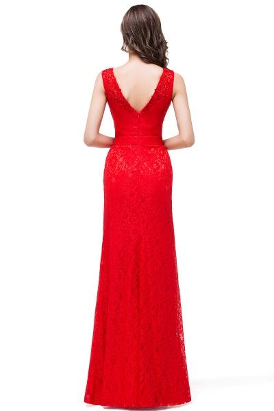 EMERIE | Mermaid Floor-length Sleeveless V-Neck Lace Prom Dresses_3