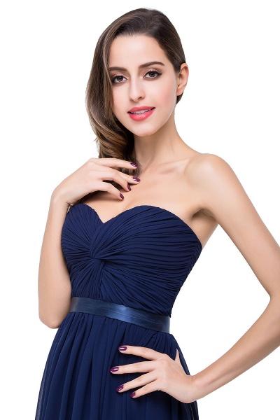 ADELINA | A-line Strapless Chiffon Bridesmaid Dress with Draped_9