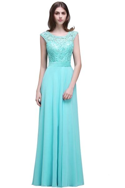 Affordable Jewel Chiffon A-line Evening Dress_1