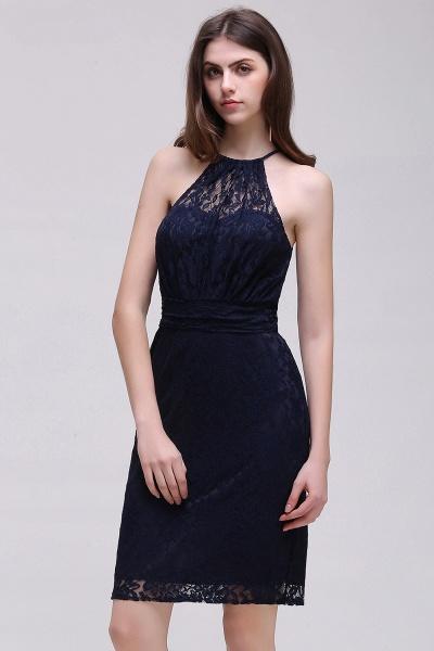 Amazing Halter Lace Column Homecoming Dress_7