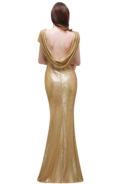 Women Sparkly Rose Gold Long Sequins Bridesmaid Dresses Prom/Evening Gowns_11
