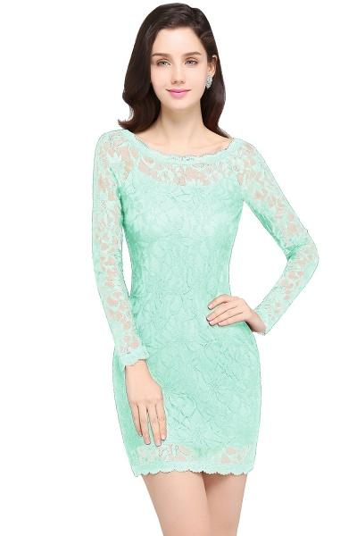 Amazing Jewel Lace Mermaid Bridesmaid Dress_9