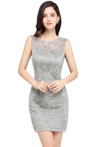 Elegant Scoop Lace Column Bridesmaid Dress_6