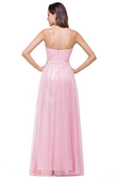 Glorious Strapless Tulle A-line Bridesmaid Dress_3