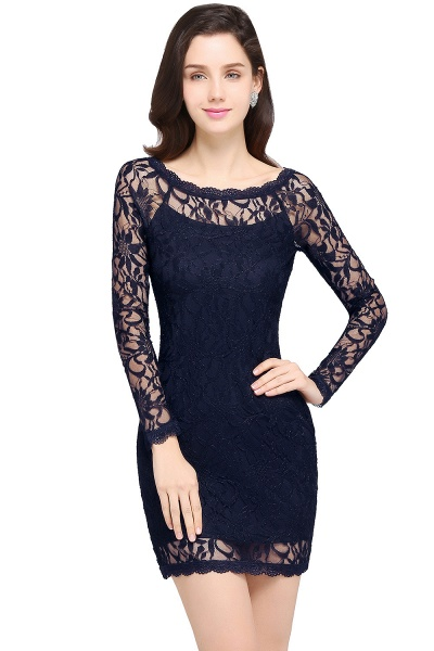 Amazing Jewel Lace Mermaid Bridesmaid Dress_6