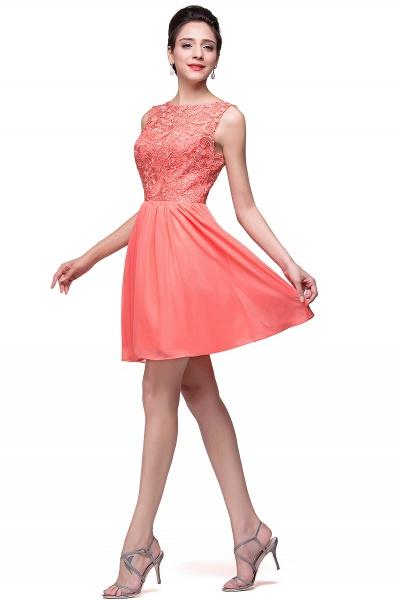 ELIANA | A-line Short Sleeveless Bateau Chiffon Ruffles Lace Top Prom Dresses_14