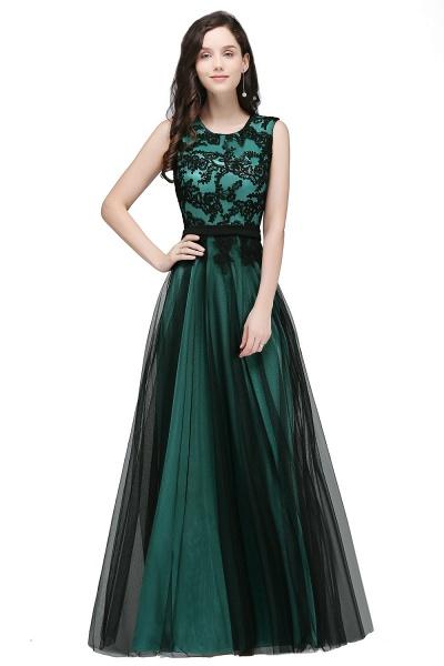 ARABELLA | A-line Scoop Floor Length Lace Cheap Evening Dresses_3